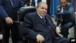 Le président Abdelaziz Bouteflika de l'Algérie, 4 mai 2017.