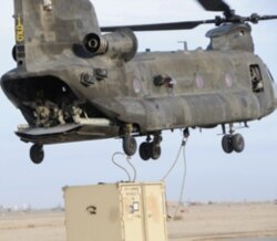 A Boeing CH-47 Chinook helicopter
