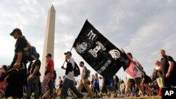 حضور گروههای مختلف در تظاهرات واشنگتن