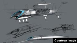 Los bocetos del Hyperloop fueron revelados por Elon Musk.