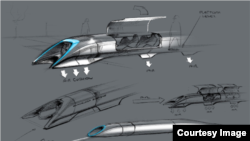 Hyperloop is depicted in a drawing released by inventor Elon Musk.
