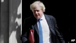 El ministro briánico de Relaciones Exteriores, Boris Johnson, presentó su renuncia el lunes, 9 de julio de 2018.