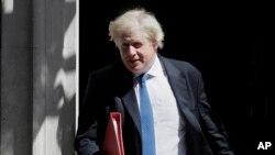 Aliyekuwa waziri wa mambo ya nje wa Uingereza, Boris Johnson, ambaye aklijiuzulu tarehe 9 mwezi Julai, 2018.