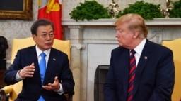 Tổng thống Mỹ tiếp người đồng nhiệm Hàn Quốc hồi tháng Tư