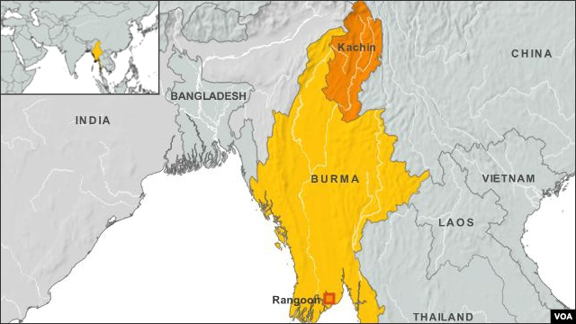 Kachin region of Burma