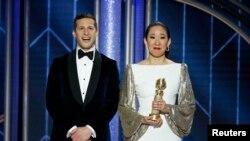 Gecenin sunucularından Sandra Oh, ikinci Altın Küre'sini kazandı