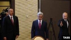 Ilham Əliyev ,Serj Sarkisyan, Vladimir Putin