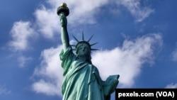 紐約港口的自由女神像。