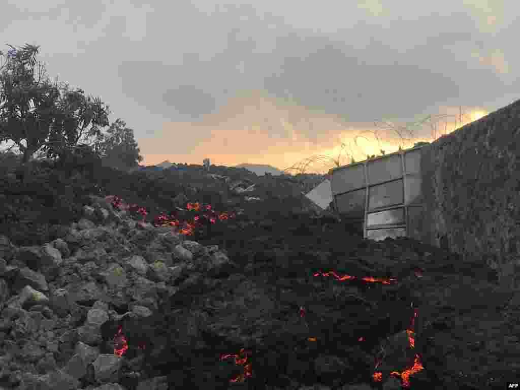 Butulu ya lava ya volcan ya Nyiragongo, Nord-Kivu, 23 mai 2021.