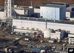 在地震中受損的日本福島核電站