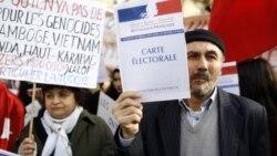 شهروندان ترکیه در فرانسه به تصویب فانون مجرمیت انکار نسل کشی ارامنه معترضند و آن را برگی در بازی انتخاباتی می دانند.