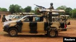 Wasu daga cikin sojojin da aka tura Adamawa domin yakar Boko Haram