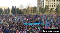 Milli Şuranın 19 yanvar mitinqi