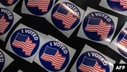 """资料照:""""我投票了!""""的投票贴纸。(2020年11月3日)"""