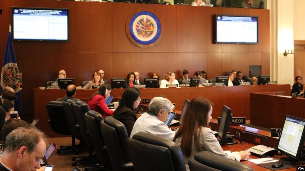 """La aprobación de la resolución en el Consejo Permanente de la OEA mostrará que """"nos solidarizamos con el pueblo de Nicaragua"""", escribió en su cuenta de Twitter el embajador de EE.UU. ante la OEA, Carlos Trujillo."""