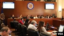 Pertemuan Organisasi Negara-Negara Amerika (OAS) untuk membahas situasi di Nikaragua, Rabu (11/7).