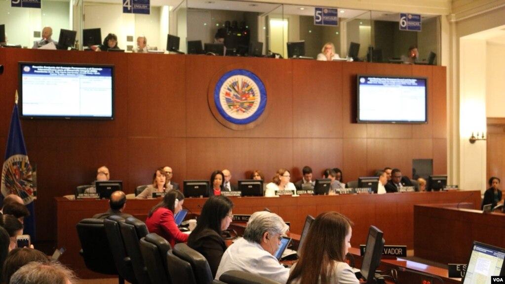El viernes seis de julio, los países miembros de la OEA firmaron una resolución en apoyo al pueblo de Nicaragua en la que se condenaron los actos de violencia cometidos en el país.