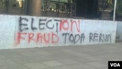 Anti-Mugabe graffiti on Harare streets