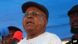 ຜູ້ນຳຝ່າຍຄ້ານຄອງໂກ ທ່ານ Etienne Tshisekedi ຖະແຫຼງ ໃນລະຫວ່າງ ການໂຮມຊຸມນຸມ ທາງການເມືອງ ທີ່ Kinshasa, ຄອງໂກ, 31 ມໍລະກົດ, 2016.