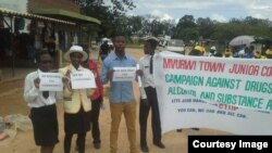 Youth in Mvurwi Town Campaign against drugs and alcohol and substance abuse