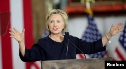 FILE - Democratic presidential candidate Hillary Clinton's campaign reports it raised $42.5 million as of early June.