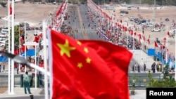中國在巴布亞新畿內亞舉行一個中國援建項目竣工儀式。(2018年11月16日)