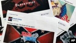 Tư liệu - Một số quảng cáo kích động chia rẽ trên Facebook được mua bởi những người Nga tìm cách can thiệp vào cuộc bầu cử tổng thống Mỹ năm 2016