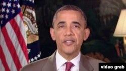 美国总统奥巴马发表每周讲话