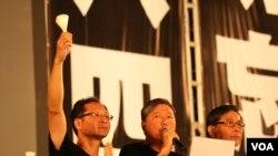 Puluhan ribu aktivis menyelenggarakan peringatan 23 tahun tragedi Tiananmen di Taman Victoria, Hong Kong (4/6).