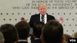 Trump akizungumza na wafanyakazi wa CIA