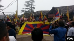 Dharamsala Raises Tibetan Flags in Solidarity with Driru Tibetans