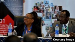 Audrey Mpunzwana at conference