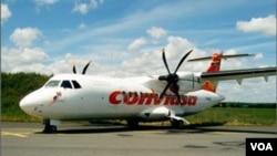 El avión del tipo ATR de la aerolínea Conviasa de Venezuela, como el que se ve en la foto es el que sufrió el accidente.