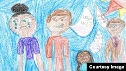 경시대회에 입상한 8살 아이의 그림 (자료사진)