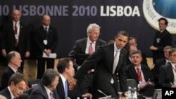 北约领导人在峰会上