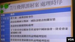台灣依照聯繫機制將導彈誤射事件信息傳給中國。(美國之音張永泰拍攝)
