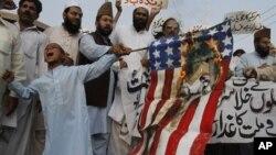 Антиамериканские протесты. Карачи, Пакистан.