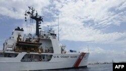Патрульный корабль береговой охраны США в Мексиканском заливе.