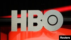 Logo HBO,Home Box Office, jaringan TV kabel premium, yang dimiliki oleh Time Warner, di Beverly Hills, California, 1 Agustus 2012. (Foto:Dok)