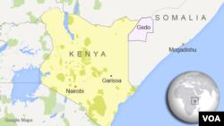 Ramani ikionesha Somalia inavyopakana na nchi ya Kenya.