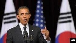 美国总统奥巴马在首尔核不扩散首脑会议上讲话