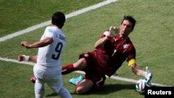 Le gardien italien Gianluigi Buffon.
