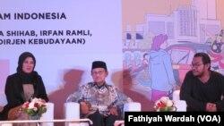 Merayakan Keberagaman Indonesia Bersama B.J. Habibie di Museum Nasional (foto: VOA/Fathiyah Wardah)