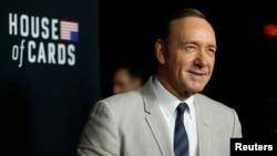 "Aktor Kevin Spacey yang bermain sebagai presiden AS dalam serial Netflix ""House of Cards."" (Reuters/Mario Anzuoni)"