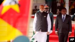 Waziri Mkuu wa India, Narendra Modi, na Rais wa Mozambique, Filipe Nyusi