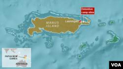 Trại tạm giữ trên đảo Manus, Papua New Guinea.