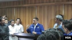 Anas Urbaningrum mengundurkan diri sebagai Ketua Umum Partai Demokrat (Foto: VOA/Andylala)
