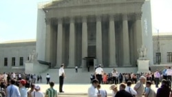 Crowd Outside US Supreme Court Reacts to Gay Marriage Decisions