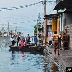 Le Bénin a connu de graves inondations en 2010
