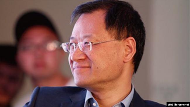 中国清华大学法学教授许章润 (推特照片)